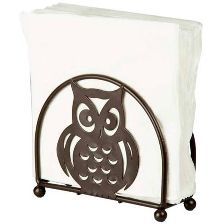 Home Basics Napkin Holder Bronze Owl Walmart Com