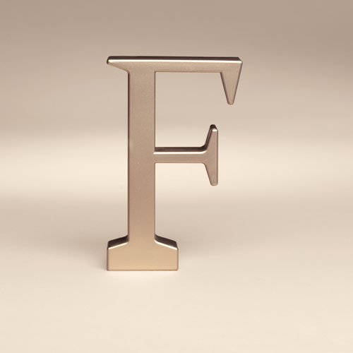 Bakery Crafts Monogram F Wedding Topper, 1ct
