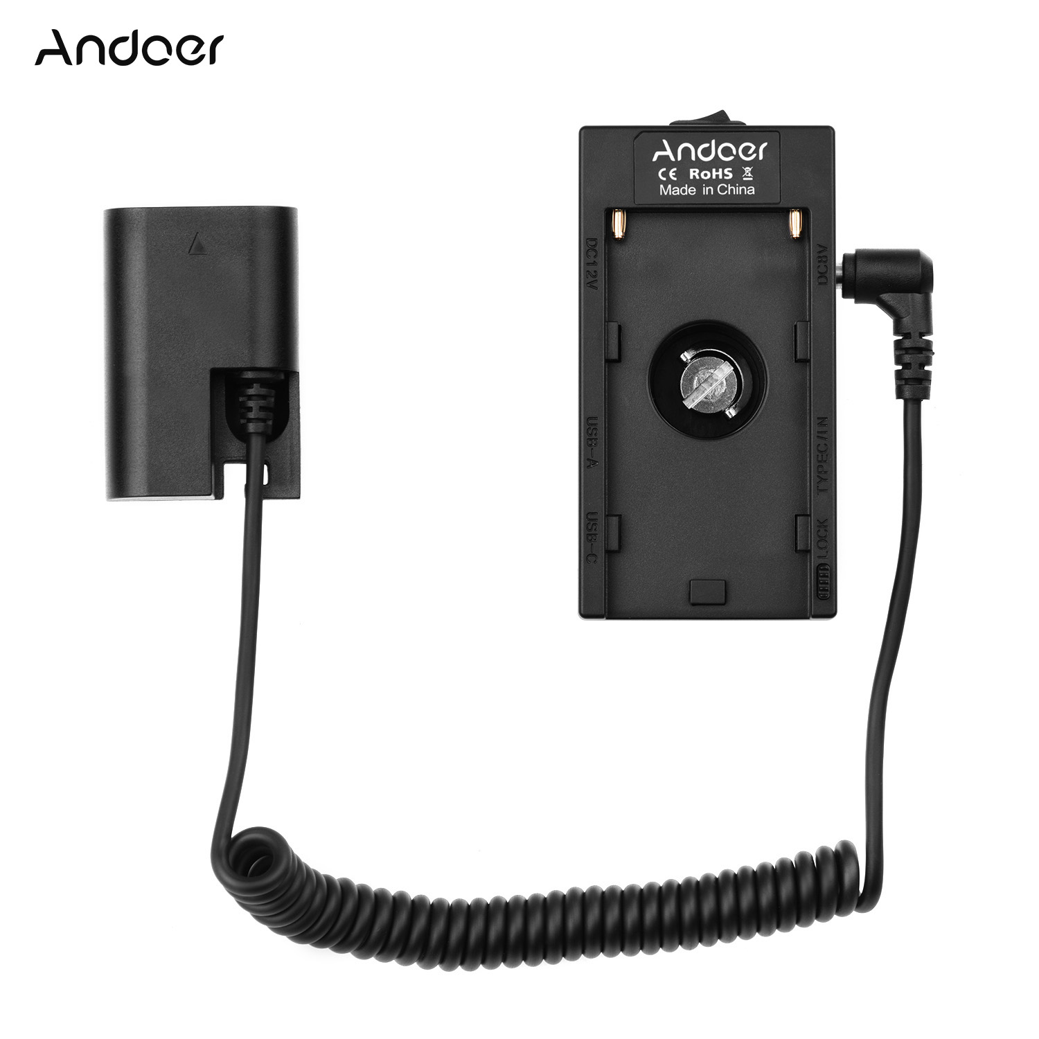 USB to Dummy Battery Replacement for Canon LP-E6 40 Adapter Cable