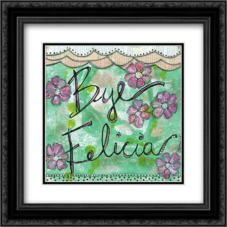 Bye Felicia 2x Matted 20x20 Black Ornate Framed Art Print by Braun, Denise](Black Cat Felicia)