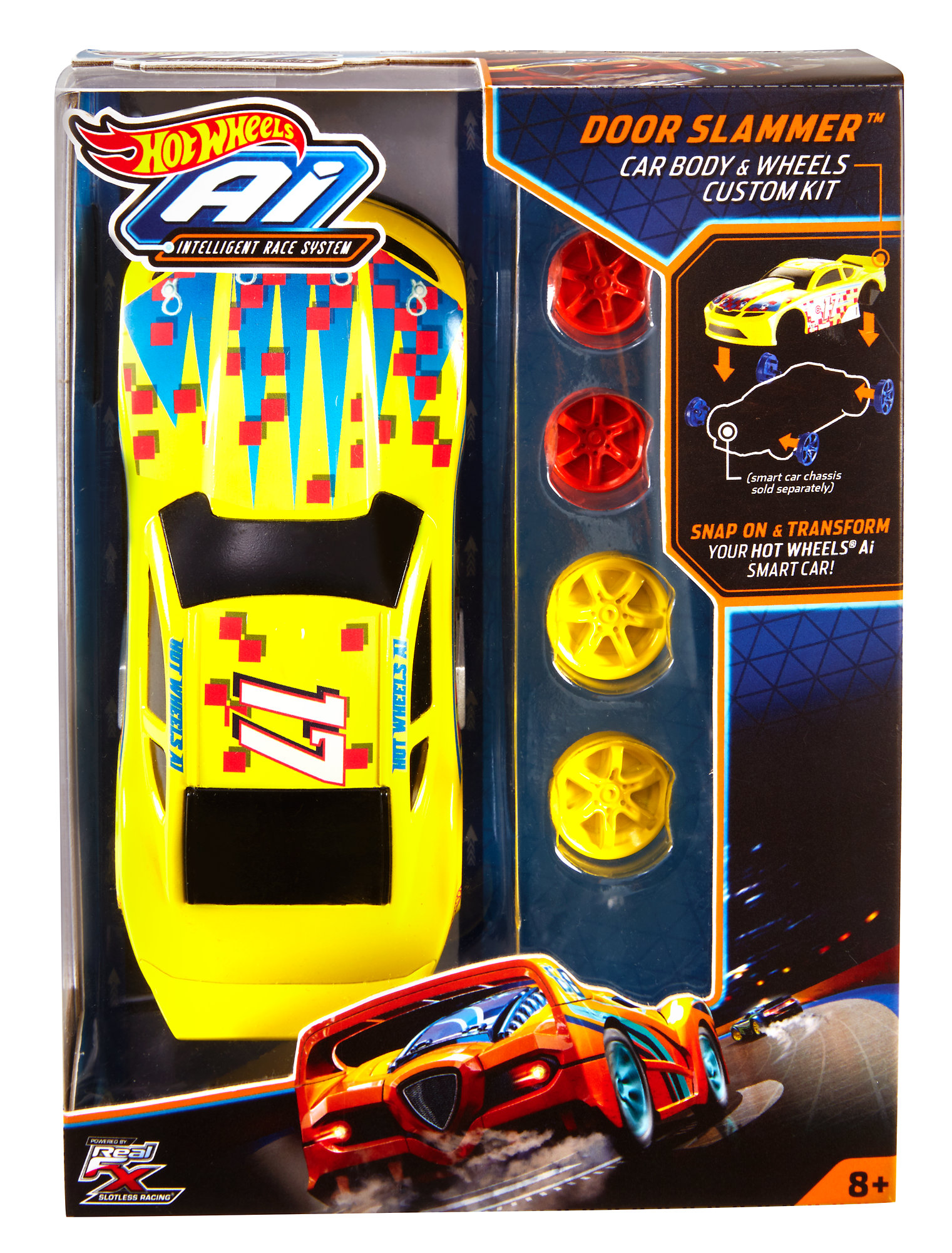 Hot Wheels AI Door Slammer Car Body & Wheels Custom Kit by Mattel