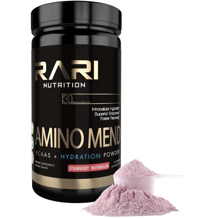 Rari Nutrition   Amino Mend 3 In 1 Bcaa And Hydration Powder For Muscle Recovery  Strength  And Endurance   30 Servings   Strawberry Watermelon