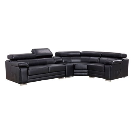 Sensational American Eagle Furniture Daphne Sectional Sofa With Chaise And Adjustable Headrests Gmtry Best Dining Table And Chair Ideas Images Gmtryco