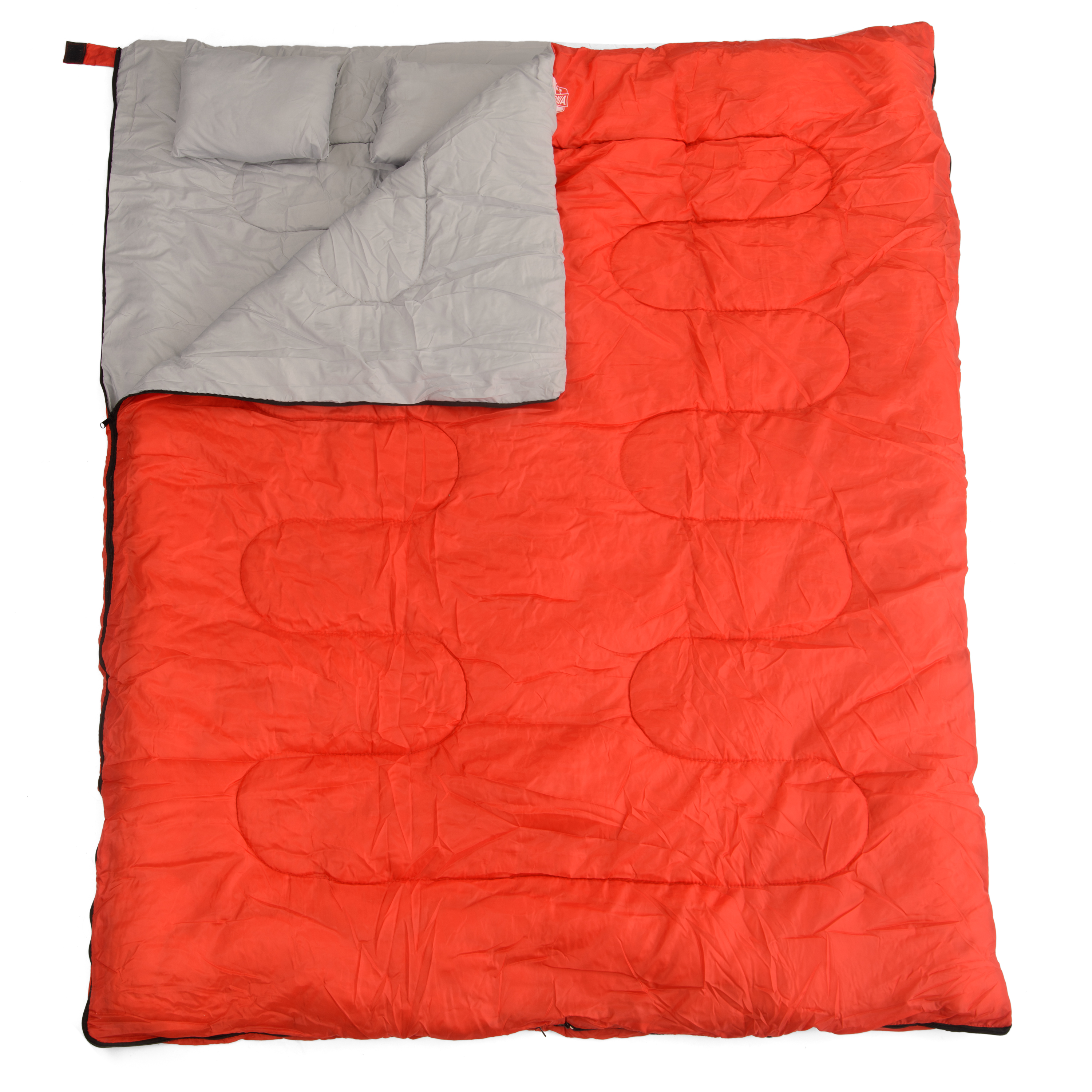 California Basics 3-4 Season 400GSM Double Sleeping Bag with Water-Resistant Shell for Camping, Hiking, Backpacking and Outdoors, includes 2... by California Basics