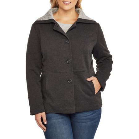 Climate Concepts Women's Plus-Size Soft & Cozy Fleece Jacket with ...