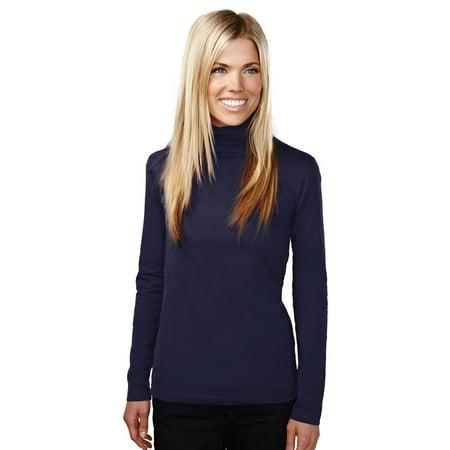 Multi Bright Turtleneck - Tri-Mountain Women's Self Fabric Collar Turtleneck Jersey