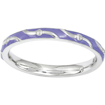 f46b8ea45 Stackable Expressions - Stackable Expressions Sterling Silver Purple Enamel  Ring - Walmart.com