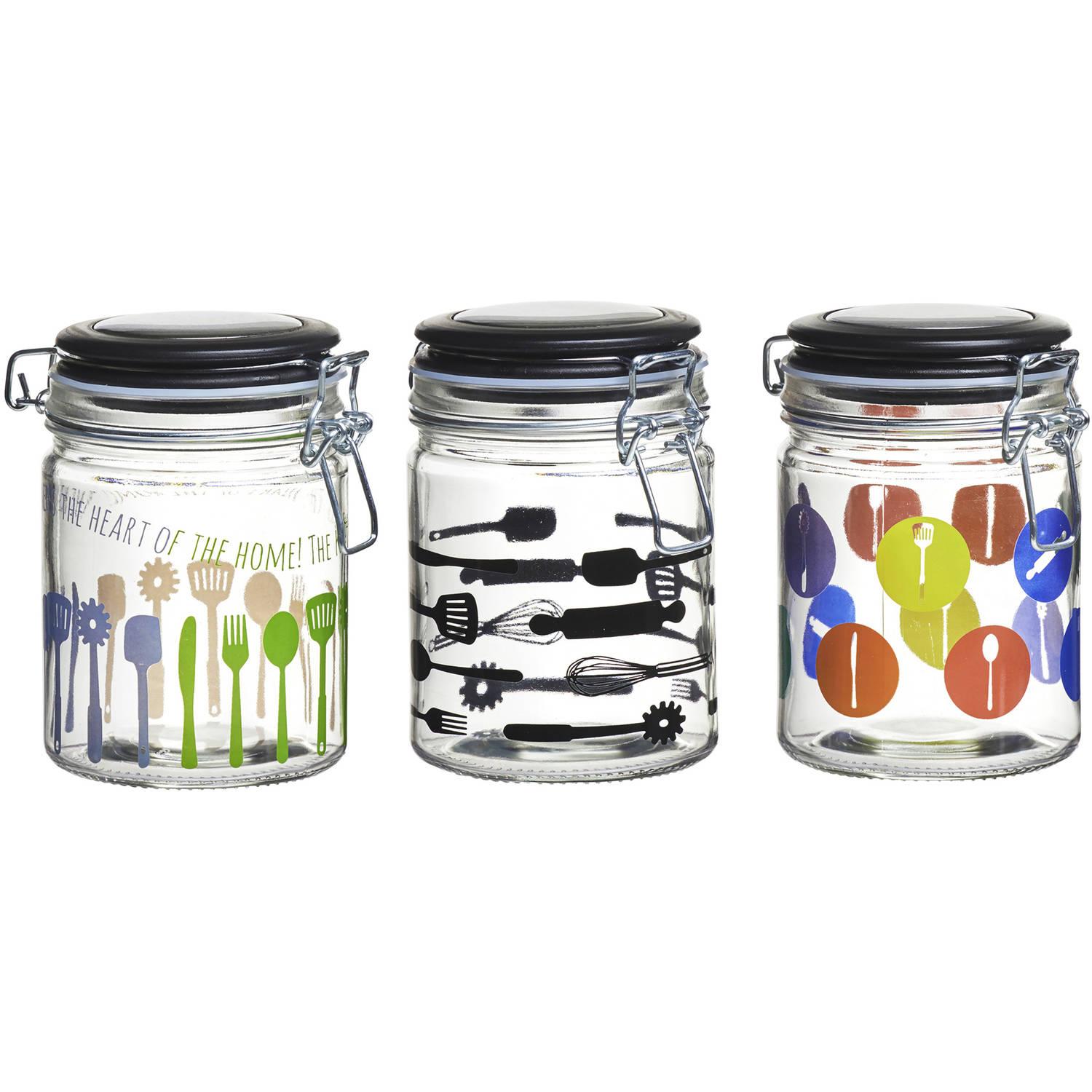 Kitchenware Hermetic Preserving Jars, 24 oz, Set of 3