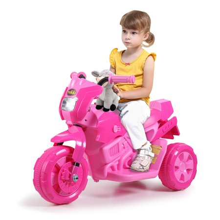Lowestbest Kids Ride on Car, Kids Ride on Motorcycle, 3 Wheel Motorcycle for Girls Boy, Children 6V Electric Battery Powered Ride on Toys for Outdoor, Gift Kids Outdoor Motorcycle