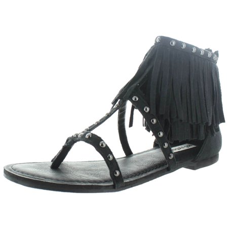 46728b633 Not Rated - Not Rated Xenia Women s Fringe Gladiator Sandals Boho ...