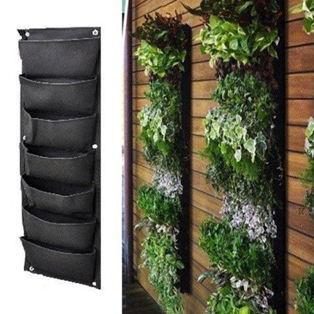 Meiwo 7 Pocket Hanging Vertical Garden Wall Planter For Yard Garden Home (Wall Planter)