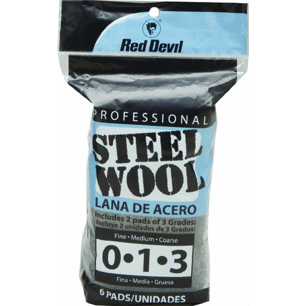 6-Pack Assorted Steel Wool