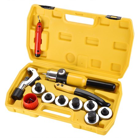 Yescom Hydraulic Tube Expander Swaging 7 Lever Expander Tools Kit HVAC Tool w/ (Swaging Kit)