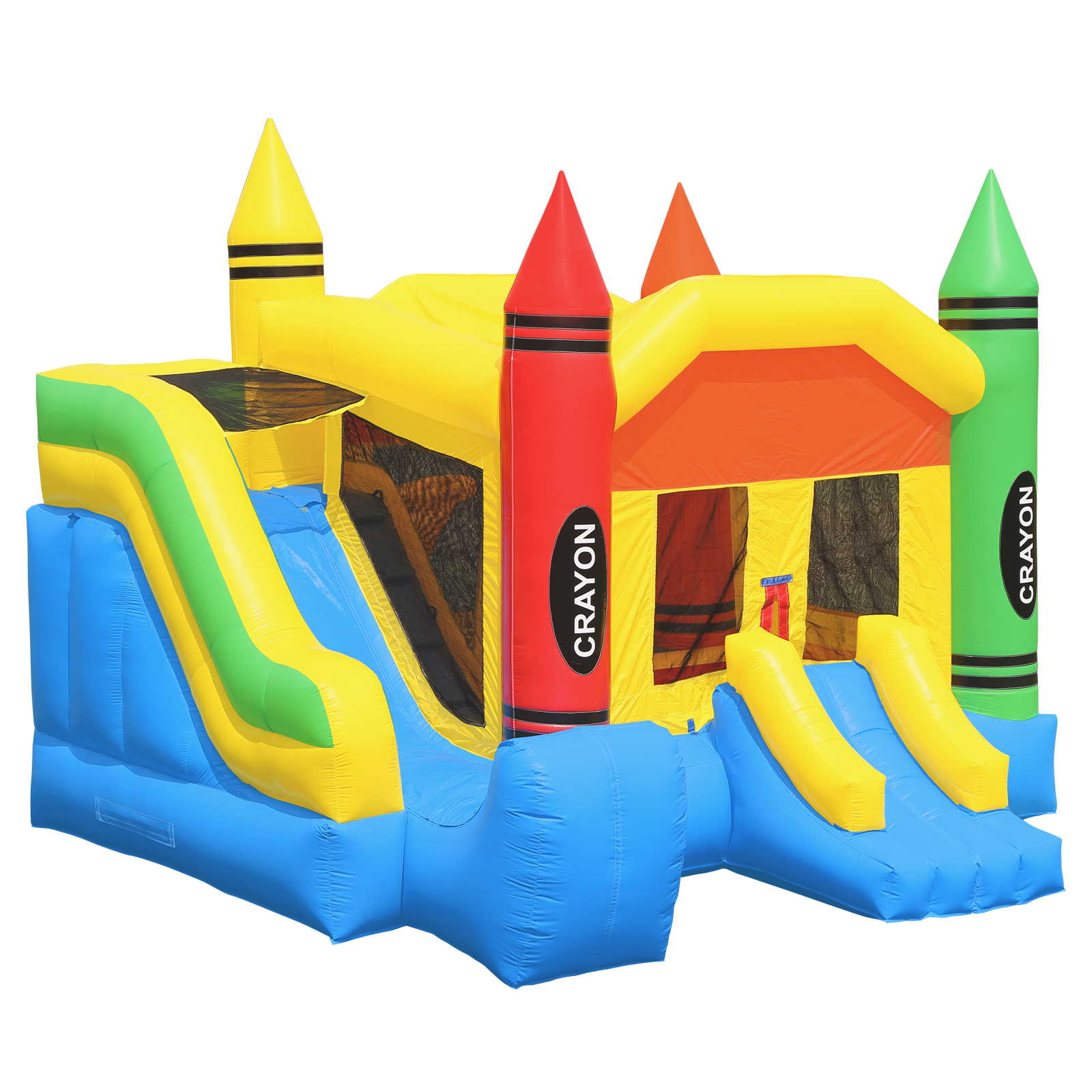 Inflatable HQ Commercial Grade Crayon Castle Bounce House 100% PVC with Blower and Slide