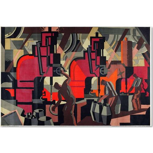 "Trademark Fine Art ""Motor Manufacturing, 1928"" Canvas Art by Clive Gardiner"