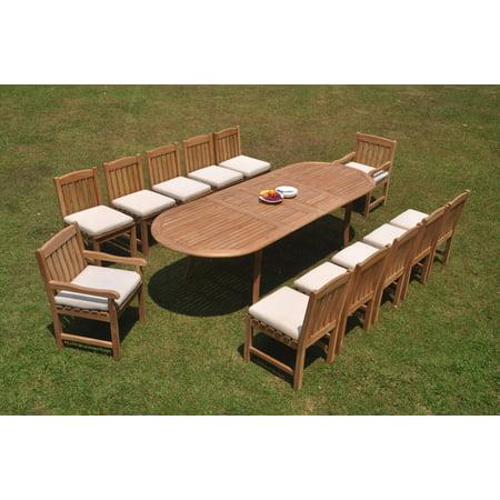 Grade-A Teak Dining Set: 12 Seater 13 Pc: 118