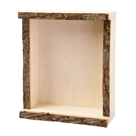 Walnut Hollow Basswood Bark Edge Shadow Box 8X10