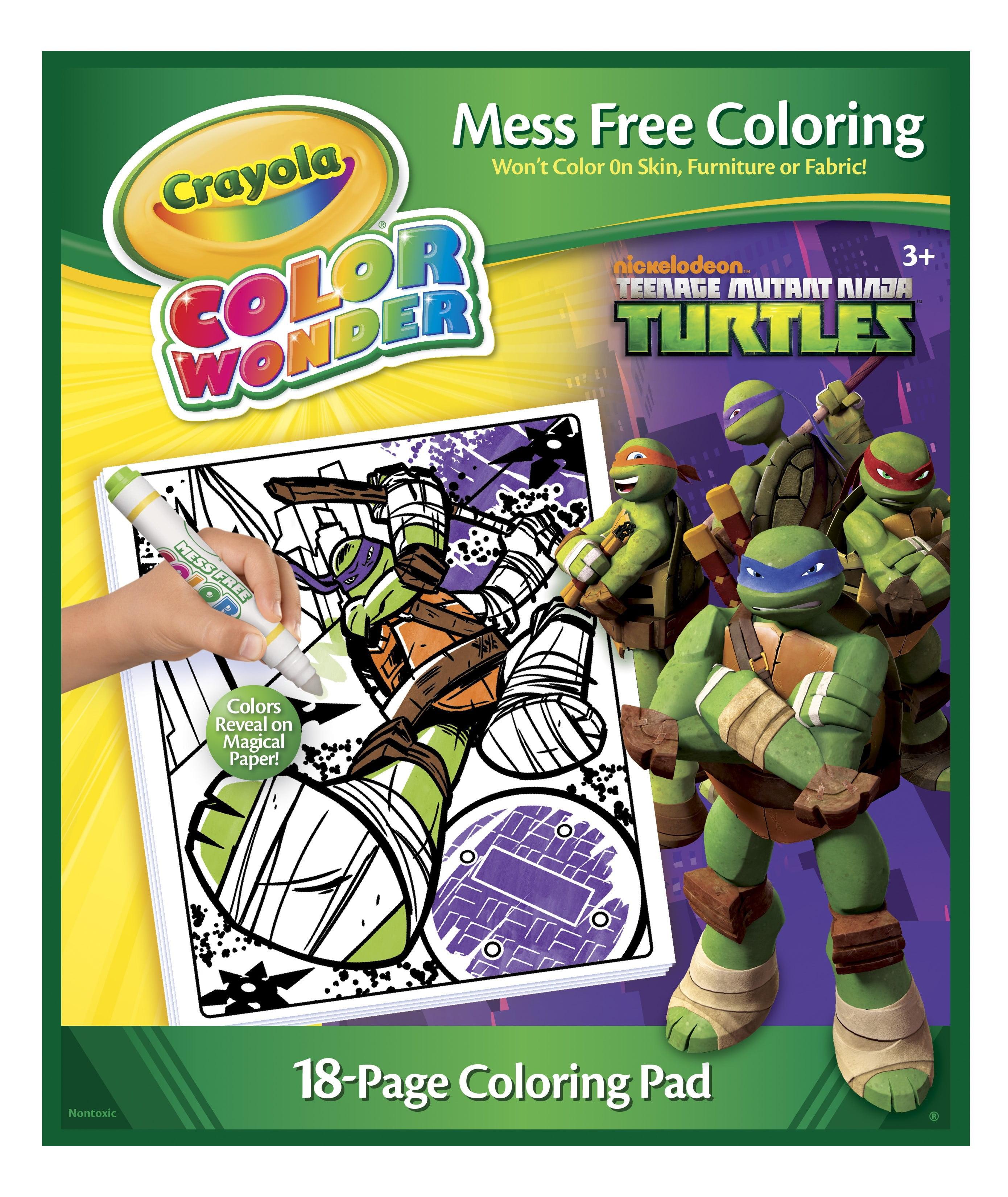 crayola color wonder coloring pad, teenage mutant ninja turtles ...