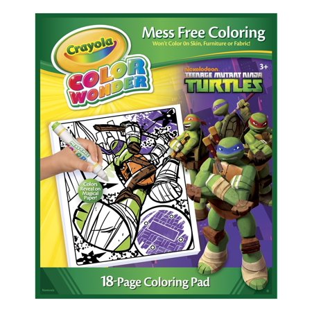 crayola color wonder teenage mutant ninja turtles coloring book and markers - Teenage Mutant Ninja Turtles Coloring Book