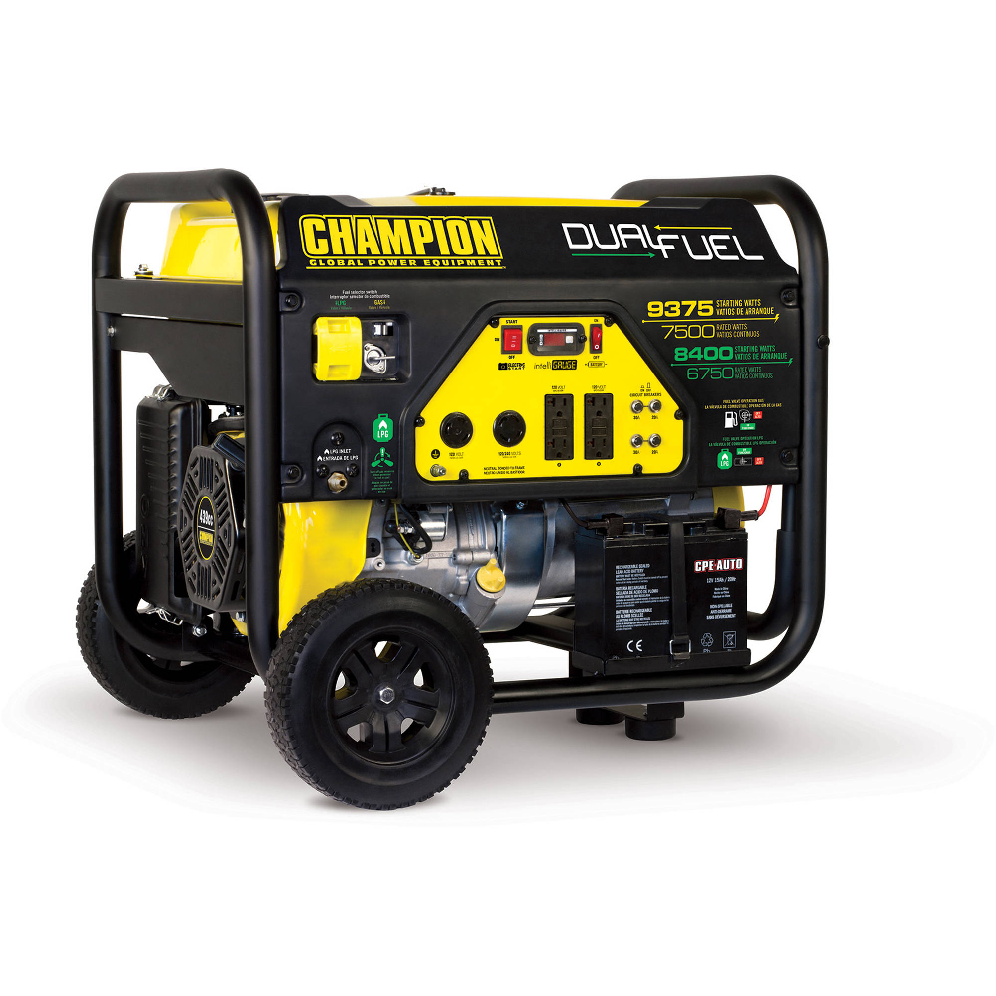 Champion 9375-Watt Dual Fuel Portable Generator