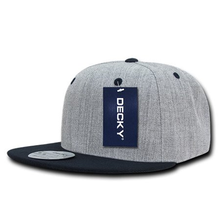 Decky 1092 Heather Grey Snapbacks-HGrey Navy - Walmart.com 8ff04162e9e