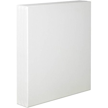 Tara Stretched Back Stapled Cotton Canvas  White  Pack Of 3