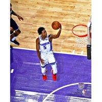 De'Aaron Fox Sacramento Kings Unsigned Layup Photograph