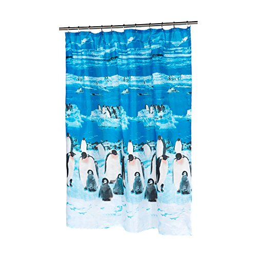 "Park Avenue Deluxe Collection Park Avenue Deluxe Collection ""Polar"" Fabric Shower Curtain"