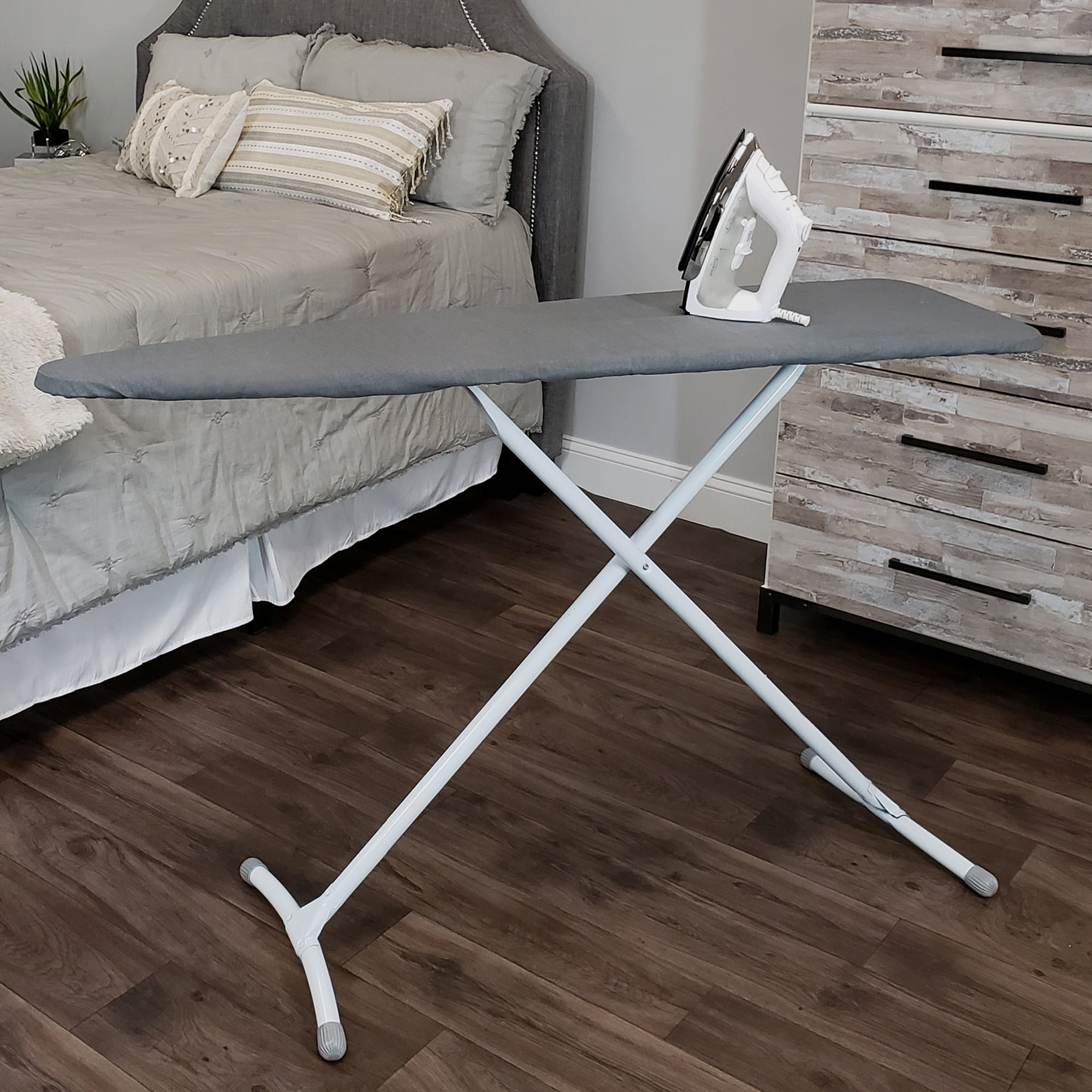 Grey and White... Standard Size Homz Contour Steel Stable Ironing Board