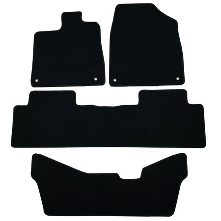 Fits 14-16 Acura MDX Black Nylon Floor Mats Carpets 5 - Acura Black Floor Mat
