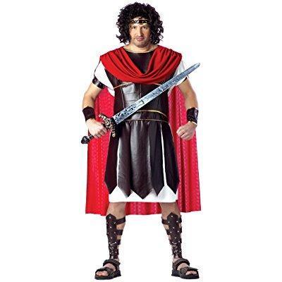 california costumes men's plus size-hercules, brown/red, plus (48-52) - Hercules Megara Costume