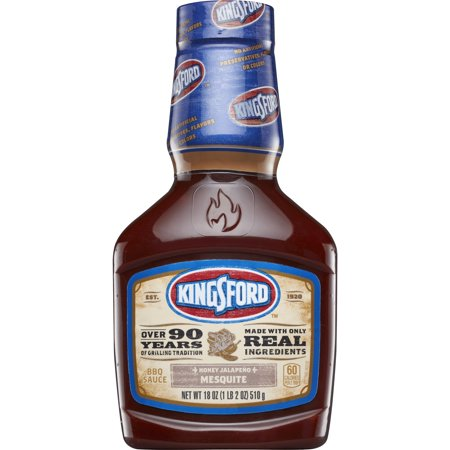 Kingsford BBQ Sauce, Honey Jalapeno Mesquite, 18 oz