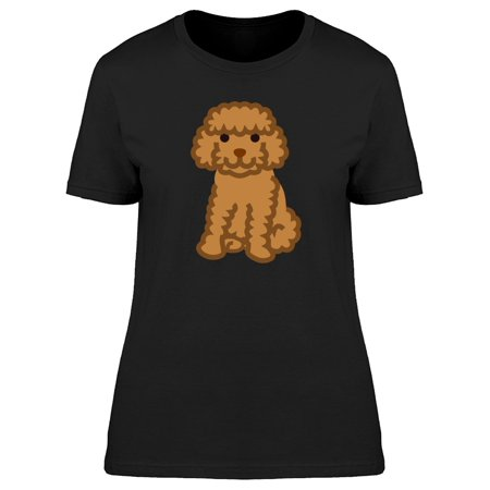 Miniature Poodle Clip Art Tee Women's -Image by (Woman Black Miniature)