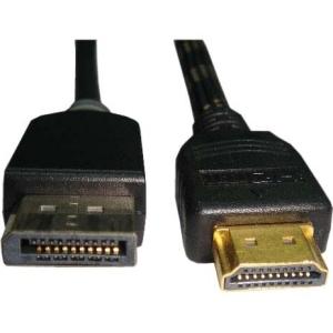 Unirise Displayport/hdmi Audio/video Cable - Displayport/hdmi For Audio/video Device - 6 Ft - Hdmi Male Digital Audio/video - Displayport Male Digital Audio/video - White (hdmidp-06f-mm)