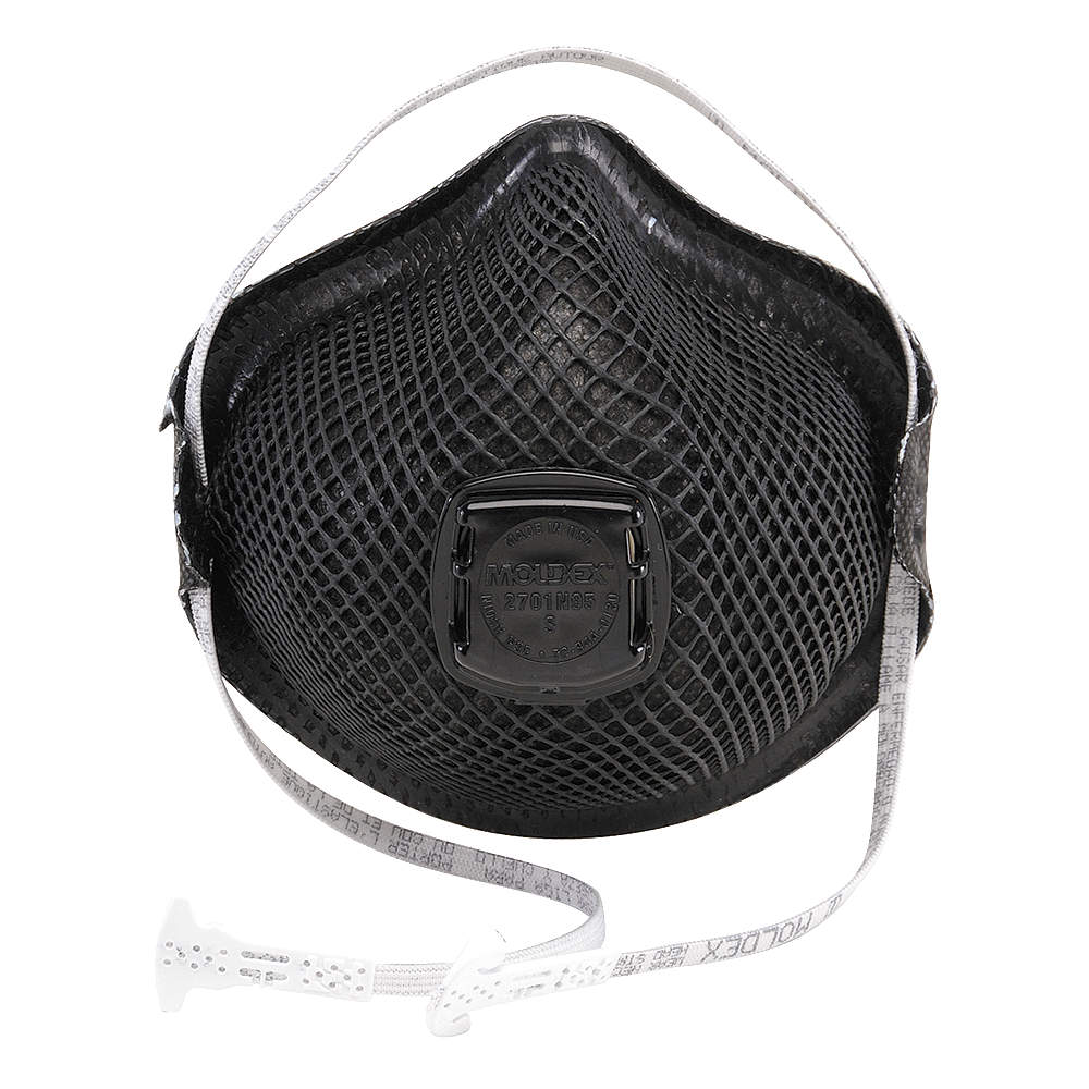 MOLDEX N95 Disposable Particulate Respirator,  Black,  S,  10PK M2701N95