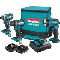 Makita-CT320R 18 Volt Compact Lithium-Ion Cordless 3-Piece Combo Kit (