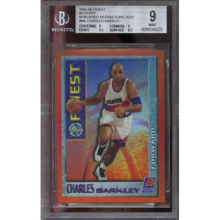 1995 86 Finest Mystery Bordered Refractors Test  M6 Charles Barkley Bgs 9