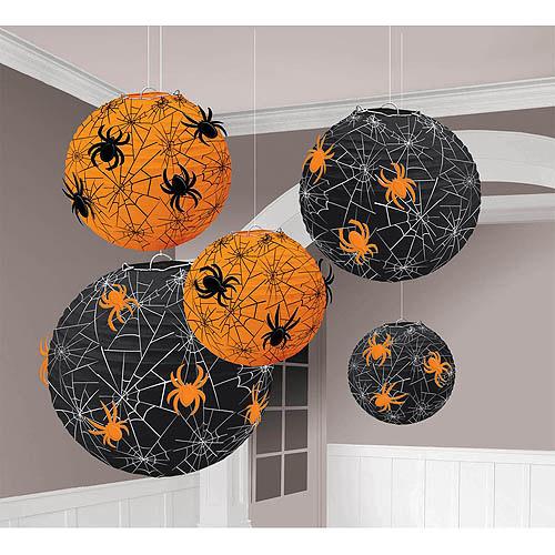 Amscan Spider Web Printed Paper Lanterns