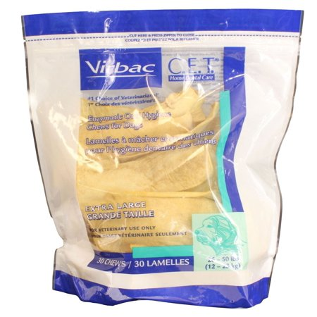 C.E.T. Oral Hygiene Chews for X-Large Dogs [51- 100 lbs] (30 (Sentinel Spectrum For Dogs 51 100 Lbs)