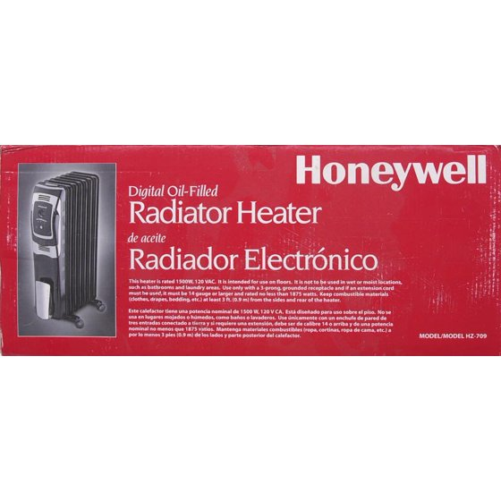 Honeywell Oil Filled Radiator Space Heater with Digital Control ...