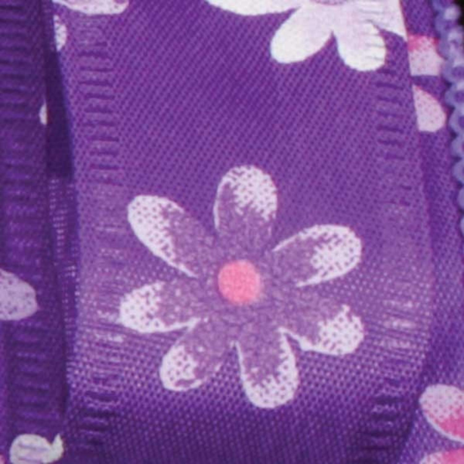 "Spring Flowers Purple Floral Wired Craft Ribbon 7/8"" x 40 Yards"