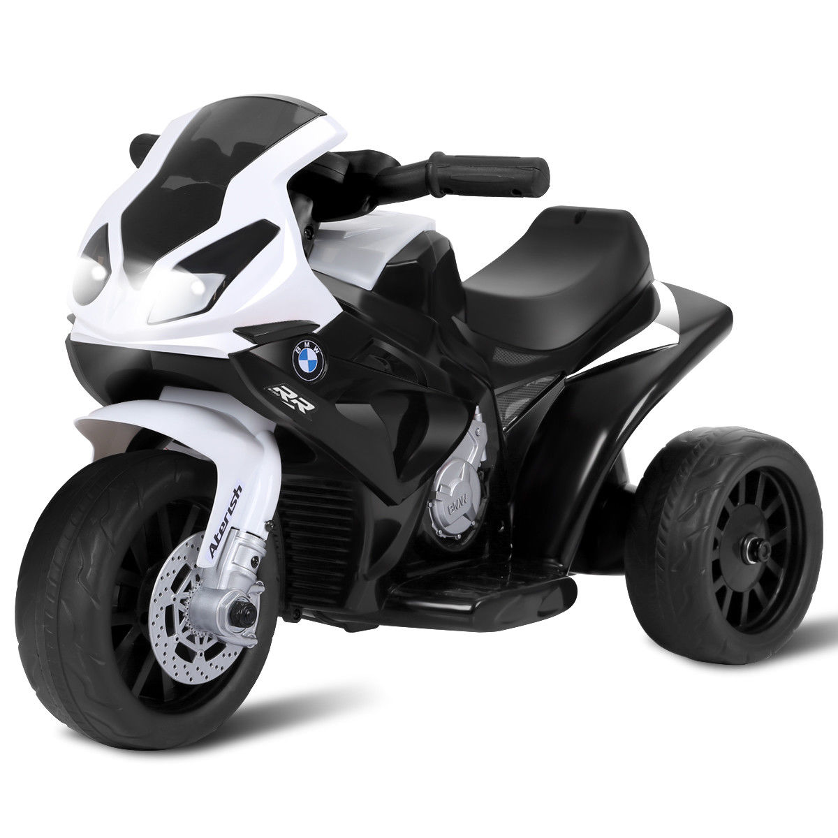 Gymax Kids Ride On Motorcycle BMW Licensed 6V Electric 3 Wheels Bicycle w/ Music&Light
