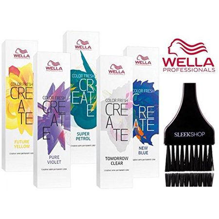 Semi Tint - Wella COLOR FRESH CREATE Semi Permanent Shades Hair Color (w/ Sleek Tint Brush) - Tomorrow Clear