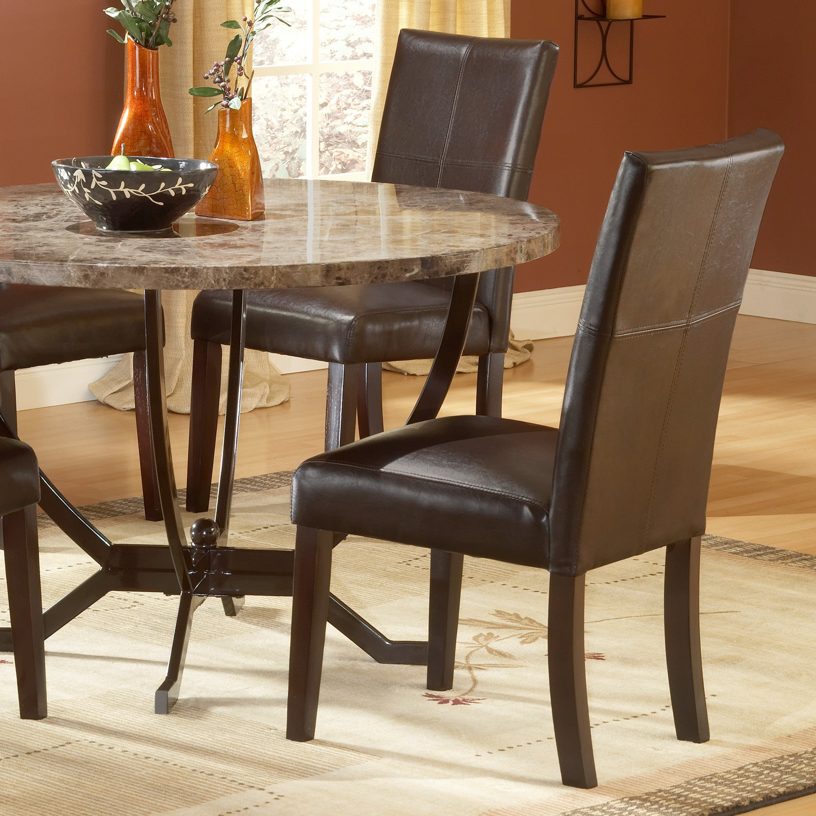 Hillsdale Monaco Parson Dining Chairs   Set Of 2, Espresso