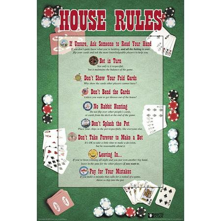 Poster - Studio B - House Rules - Poker Wall Art (House Rules Poker)