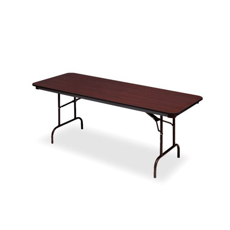 """Iceberg Premium Wood Laminate Folding Table, 30""""x72"""", Mahogany"""