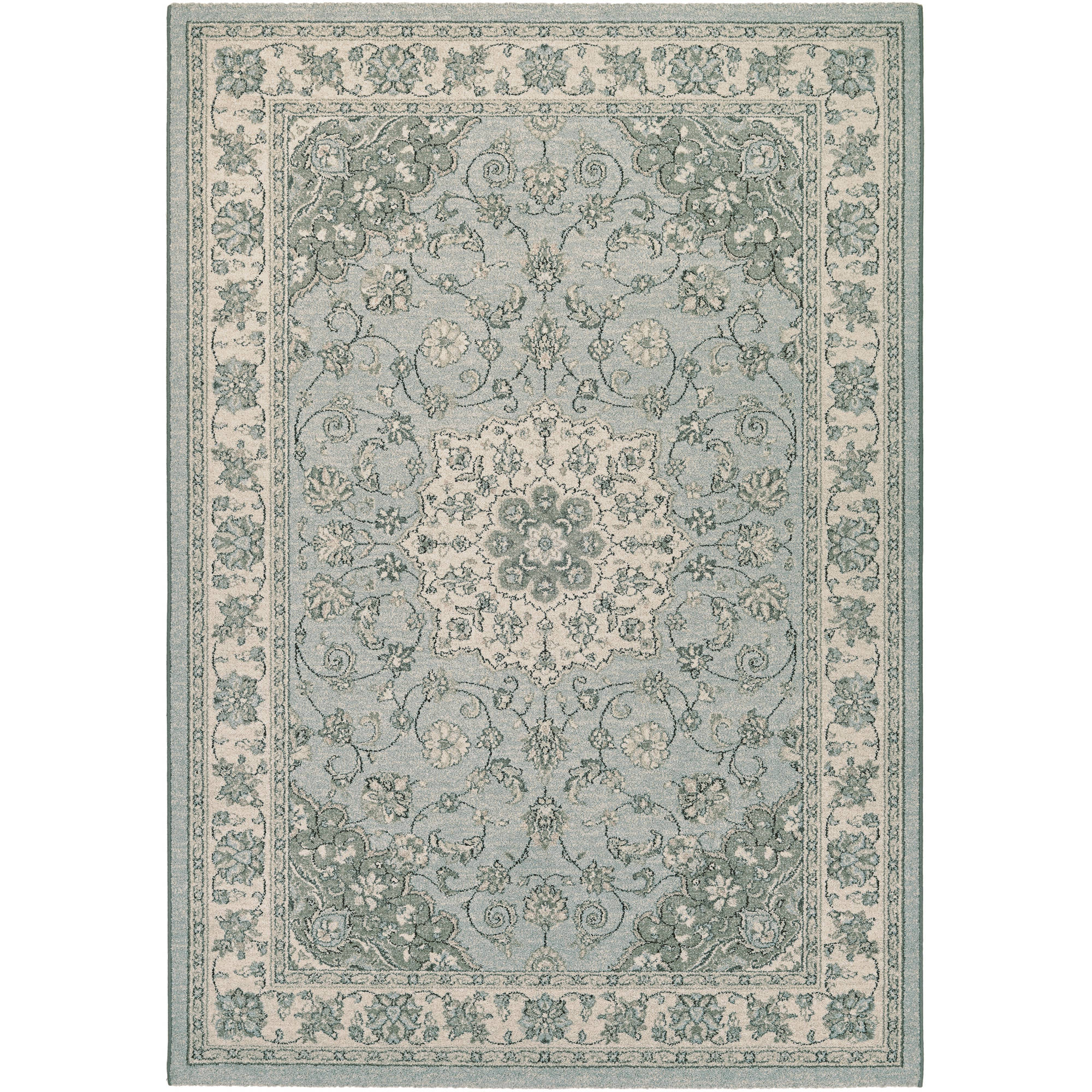 Couristan Traditions Namur/Light Blue/Ivory Run Rug