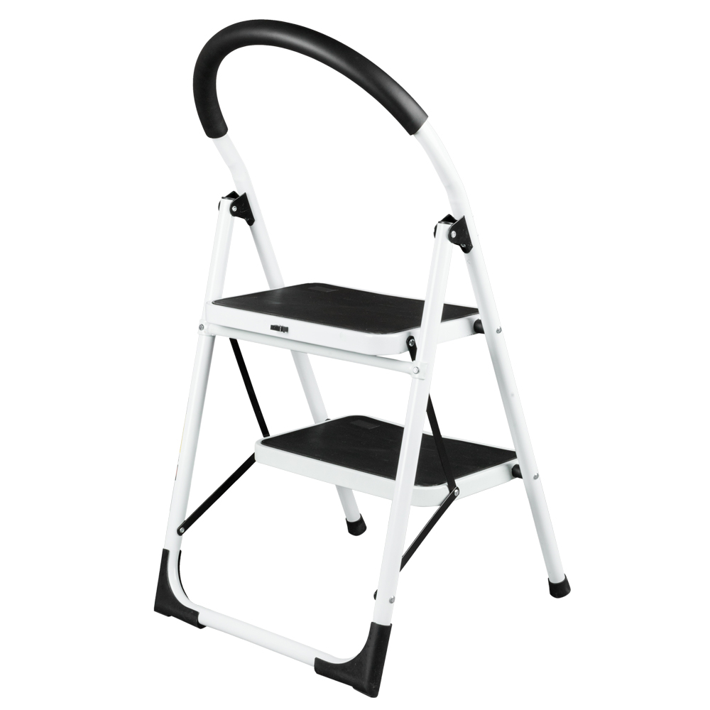 Awe Inspiring Zimtown 4 Step Ladder Large Heavy Duty Industrial Folding Collapsible Aluminum Step Stool Platform Ladder For Kitchen Office Bathroom And Garage Caraccident5 Cool Chair Designs And Ideas Caraccident5Info