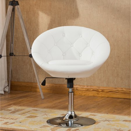Roundhill Noas Contemporary Round Tufted Back Tilt Swiviel Accent Chair, Multiple Colors Available ()