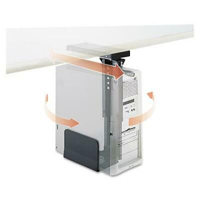 Ergo-Comfort Swivel-Mount Under CPU Stand, 9w x 13-1/2d x 17-1/2h, Black